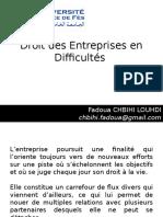 Droit Des Entreprises en Difficulté CCA 5ème Année