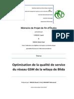 Optimisation de QoS Du Réseau GSM de BLIDA