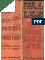 Baran, Paul - Excedente Económico e Irracionalidad Capitalista, C. P. y P., 1968
