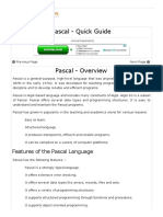 Pascal Quick Guide