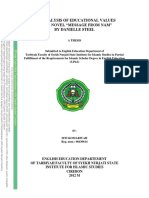 thesis The Analysis of Educational Values in the Novel Message From Nam