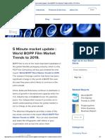 BOPP Film Worldwide Snapshot