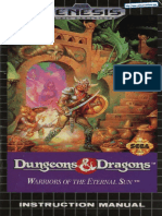 Dungeons and Dragons - Warriors of the Eternal Sun - Manual - GEN
