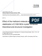 Effect of the Methanol Molecule on the Stabilization of C18H18O4 Crystal_combined Theoretical and Structural Investigation