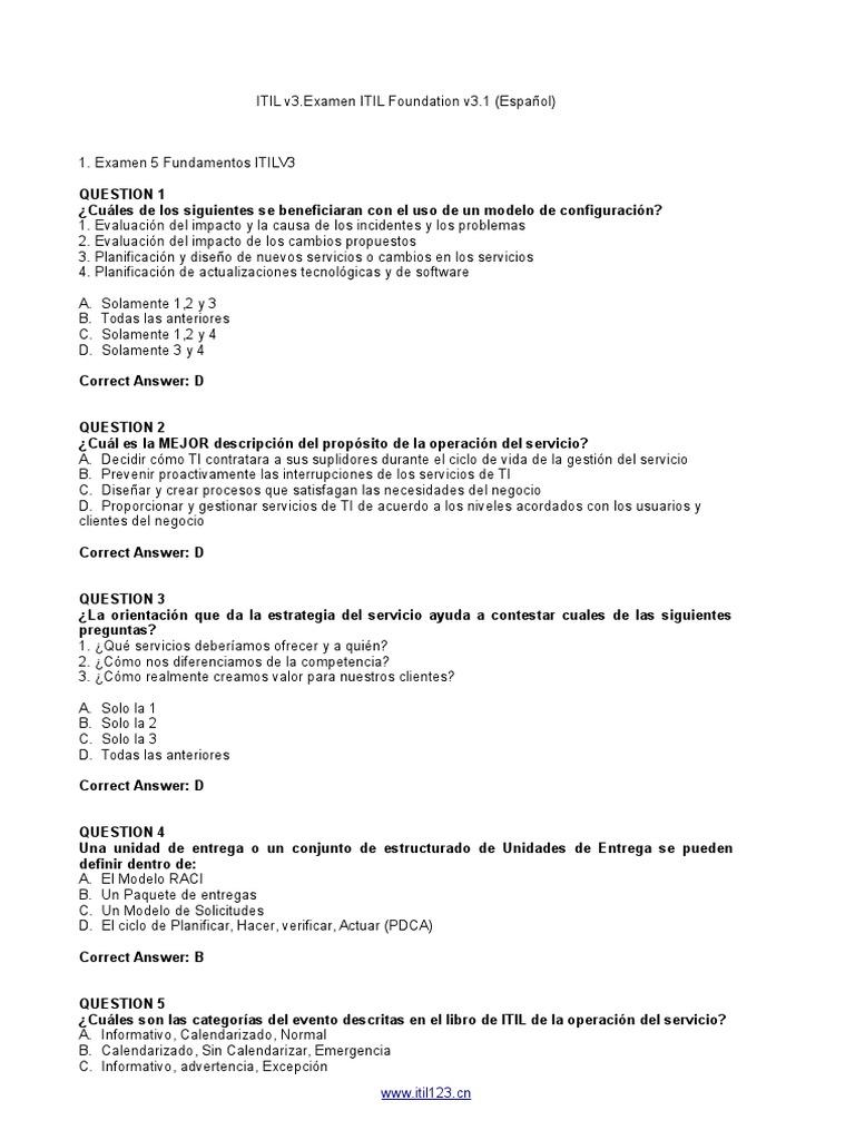Examen Itil (Resuelto)