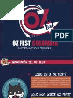 Informacion General Oz Fest Colombia