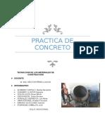Informe de Concreto 2016