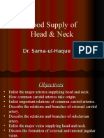 Blood Supply of Head and Neck