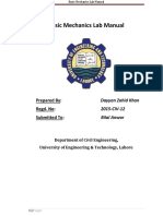 Basic Mechanics Lab Manual
