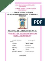 Prac 1 BQ1 PRÁCTICA DE LABORATORIO Nº 01 ''MEDIDAS DE SEGURIDAD BÁSICAS EN EL LABORATORIO''
