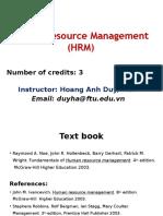 Principle of Human resource management Unit01 Introduction
