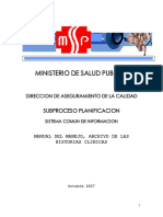Manual Manejo Historias Clinicas