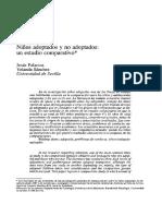 Estudio Comparativo Niños Adoptados y No Adoptados