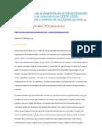 Daziano 2013 Los Comienzos en La Argentina de La Industrialización Por Sustitución de Importaciones