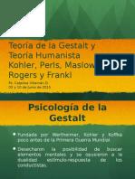 Clase 10 y 11 Gestalt y Humanismo