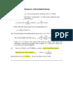 CV2015 - Tut 5 Soln - Specific Energy (1) - Critical Depth & Humps