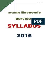 Indian Economic Services Syllabus