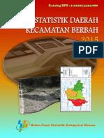 Statistik Daerah Kecamatan Berbah 2015