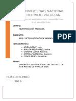 Diagnostico del distrito de Huacar-huánuco