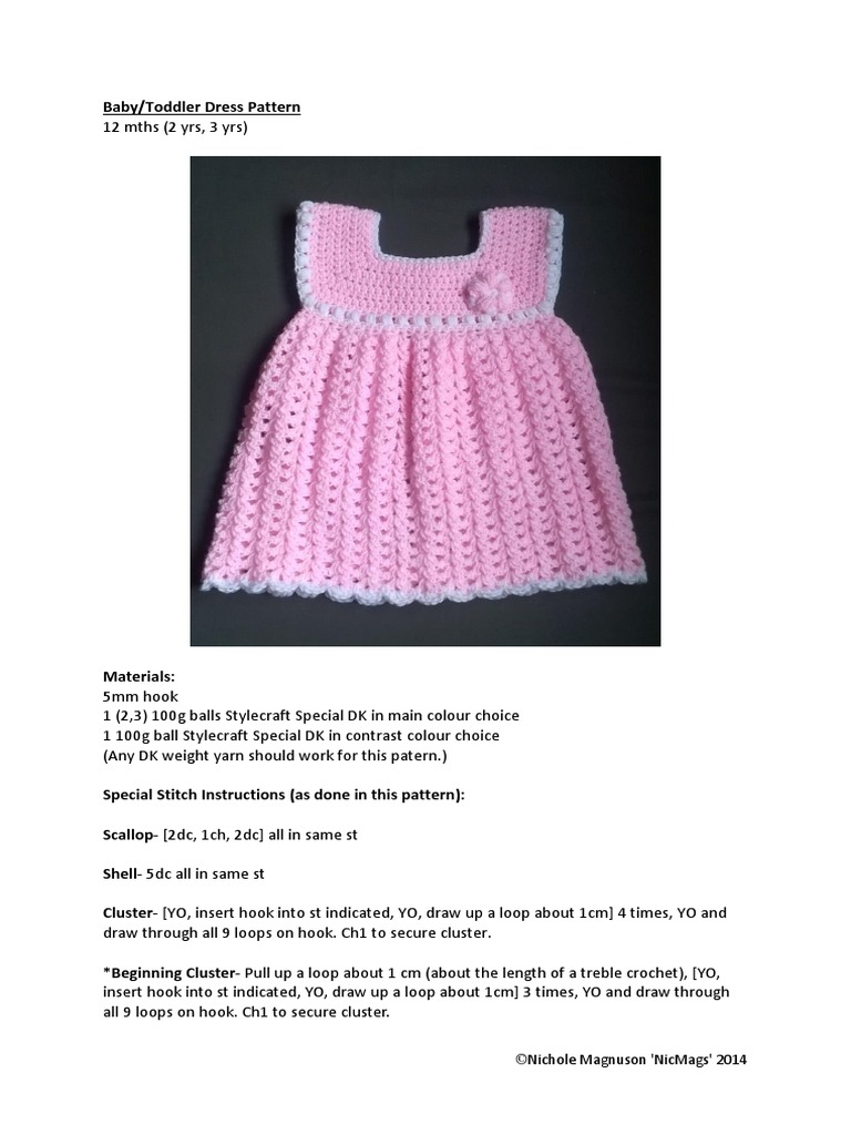 Baby and Toddler Dress | Crochet | Crafts
