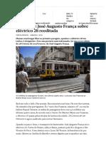 Print Crónica de José-Augusto França Sobre Eléctrico 28 Reeditada - PÚBLICO