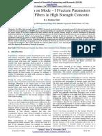 Investigation on Mode I Fracture Paramet
