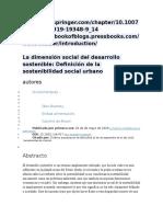 La Dimensión Social Del Desarrollo Sostenible
