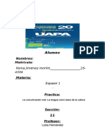 Tarea #1La Comunicación Oral La Lengua Como Base de La CulturaESPANOL 1 (1)