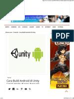 Cara Build Android Di Unity - Xfoost