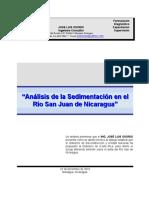 Análisis de la Sedimentación en el Río San Juan de Nicaragua
