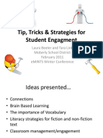 Tip, Tricks & Strategies for Student Engagement