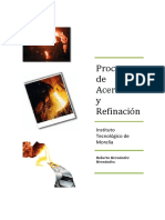 Procesos de Aceración y Refinación