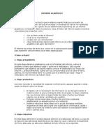 Guía Para Informe Académico