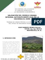Validación Del Modelo Granja Integral Autosuficiente (Gia)