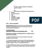 Workshop Statistics Unit 1