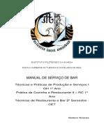 Manual Serviço de Bar 2011