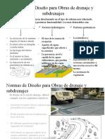Normas de Diseño Para Obras de Drenaje (Jose)