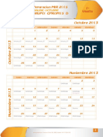 Programa Curso Octubre Calendario