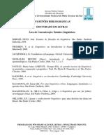 Sugestões Bibliográficas 2017.1 - Estudos Linguísticos - Doutorado