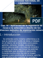 Cap. IV, Aplicacion de Lka Ingenieria de Rocas
