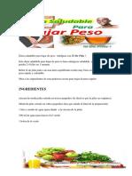 Dieta Saludable Para Bajar de Peso