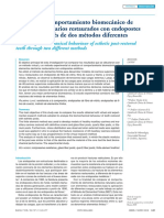 Análisis Del Comportamiento Biomecánico de Elementos Dentarios Restaurados Con Endopostes Estéticos a Través de Dos Métodos Diferentes