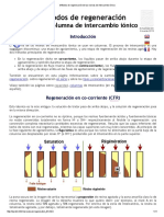 Métodos de Regeneración de Las Resinas de Intercambio Iónico