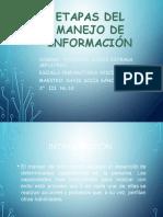 Etapas de Manejo de Informacion