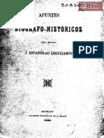 Apuntes Biógrafo - Históricos del Mayor J. Estanislao Leguizamón. Asunción Tall. Nac. Kraus año 1898