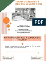 Criterios de Ingreso y Admision en UCI
