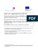 ERAWEB Call for Applications 2016 Version Dec 2015