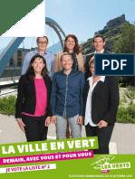 Flyer des Verts sédunois pour l'élection au conseil communal