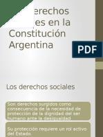 Los Derechos Sociales en La Constitucion Argentina