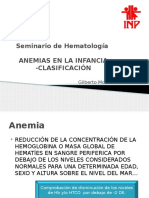 Anemias en pediatria